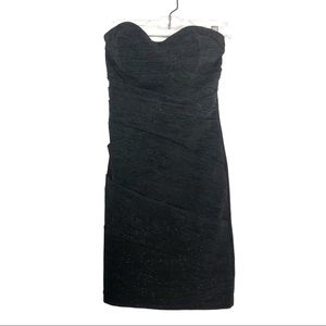 3/$25 Windsor [3] Black Shimmer Sheath Mini Dress